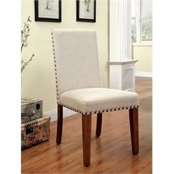 Furniture of America Georgie Upholstered Dining Chair (Set of 2)