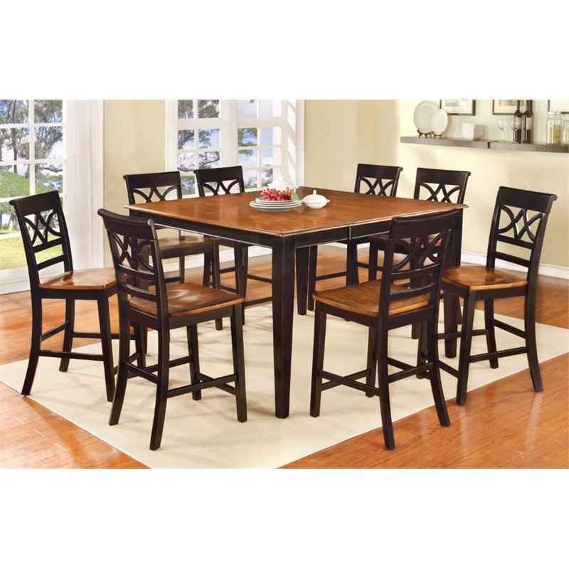 Furniture Of America Maxey Extendable Counter Height Dining Table