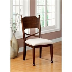 Furniture of America Duncan Dining Chair in Brown Cherry (Set of 2)