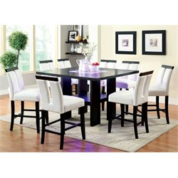 Furniture of America Jalen Counter Height LED Dining Set