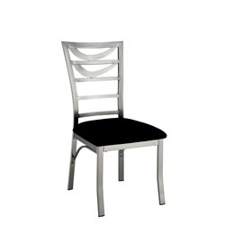 Furniture of America Halliway Metal Dining Chair in Satin (Set of 2)