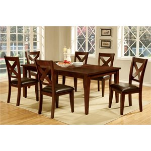 Furniture of America Fleur Extendable Dining Table in Natural Wood