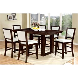 Furniture of America Steline 7 Piece Extendable Counter Dining Set