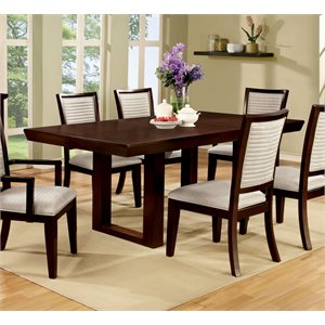 Furniture of America Steline Extendable Dining Table in Natural Wood