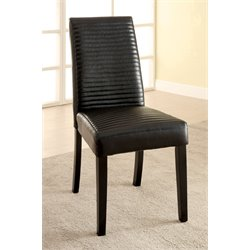 Furniture of America Werther Dining Chair in Black (Set of 2)