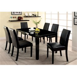Furniture of America Werther 7 Piece Dining Set in Black