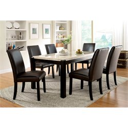 Furniture of America Hudson 7 Piece Dining Set in Natural Wood