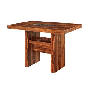 Furniture of America Rosa Counter Height PubTable in Natural Wood