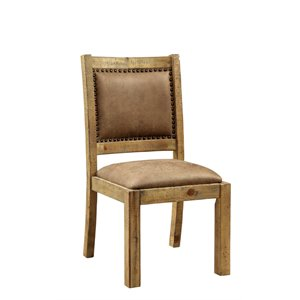 Quillis Faux Leather Dining Chair