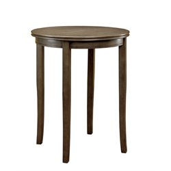 Furniture of America Cavesta Round Pub Table in Gray