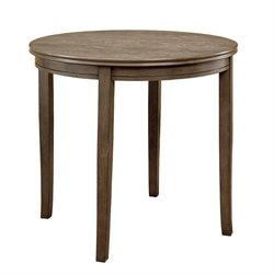 Furniture of America Mantray Round Dining Table in Gray