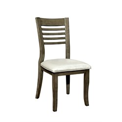 Furniture of America Mantray Dining Chair in Gray (Set of 2)