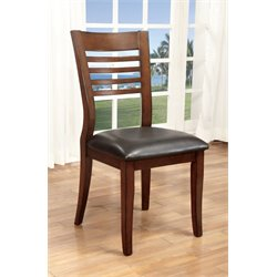 Furniture of America Halen Dining Chair in Medium Oak (Set of 2)