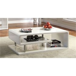 Furniture of America Lazer Coffee Table in White