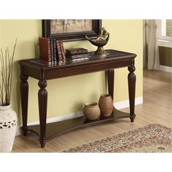 Furniture of America Ittilic Console Table in Dark Cherry