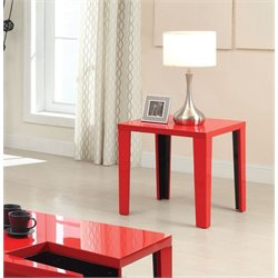 Furniture of America Lucio Suqare End Table in Red