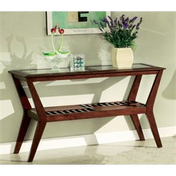 Furniture of America Artium Console Table in Dark Cherry