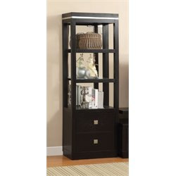 Furniture of America Mixon 3 Shelf Bookcase in Black