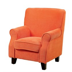 Furniture of America Taliah Upholstered Chair in Orange