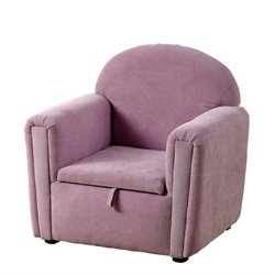 Furniture of America Macie Upholstered Storage Chair in Purple