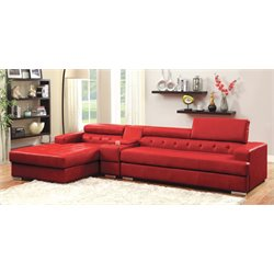 Contreras 2 Piece Leather Sectional 1