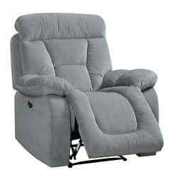 Furniture of America Boyce Power Recliner in Gray