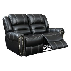 Furniture of America Stinson Faux Leather Power Reclining Loveseat