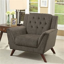 Furniture of America Graham Tufted Accent Chair in Gray