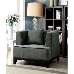 Furniture of America Waylin Fabric Accent Chair in Gray