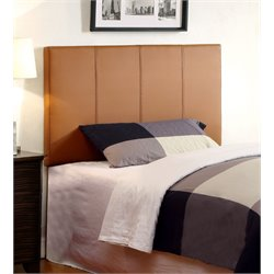 Furniture of America Ramone Twin Panel Headboard in Camel
