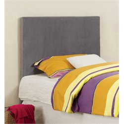 Furniture of America Ramone Twin Fabric Headboard in Gray