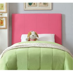 Furniture of America Ramone Twin Panel Headboard in Pink