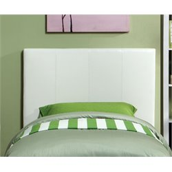 Furniture of America Ramone Twin Panel Headboard in White