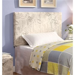 Furniture of America Ramone Twin Panel Headboard in Ivory