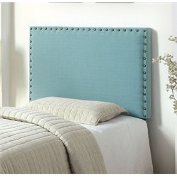 Furniture of America Manetta Twin Upholstered Headboard in Blue