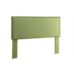 Furniture of America Manetta Full Queen Upholstered Headboard in Green