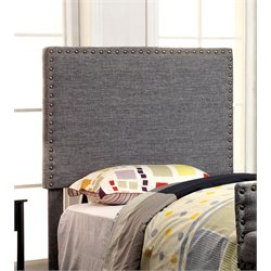 Furniture of America Manetta Twin Upholstered Headboard in Gray