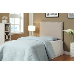 Furniture of America Manetta Twin Upholstered Headboard in Ivory