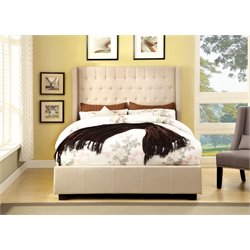 Furniture of America Elm California King Upholstered Platform Bed