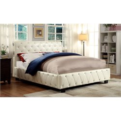 Furniture of America Morella Full Tufted Upholstered Platform Bed