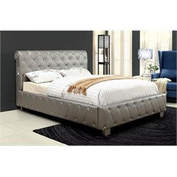 Furniture of America Morella California King Upholstered Platform Bed