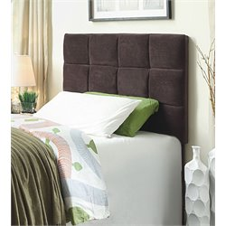 Furniture of America Hellan Twin Upholstered Headboard in Brown