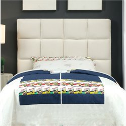 Furniture of America Hellan Twin Upholstered Headboard in Ivory