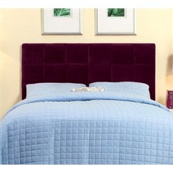 Furniture of America Hellan Full Queen Upholstered Headboard in Purple