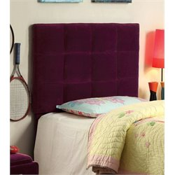 Furniture of America Hellan Twin Upholstered Headboard in Purple