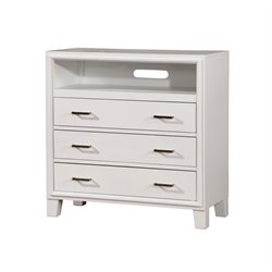 Furniture of America Realm 3 Drawer Media Chest in White