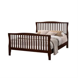 Furniture of America Chase California King Slat Bed in Brown Cherry