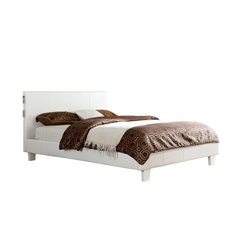 Furniture of America Charlie Queen Platform Panel Bed in White