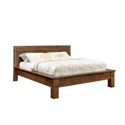 Furniture of America Fletcher Queen Platform Panel Bed in Pine Wood