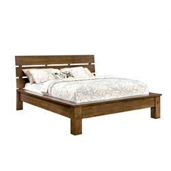 Furniture of America Kendall King Platform Bed in Pine Wood